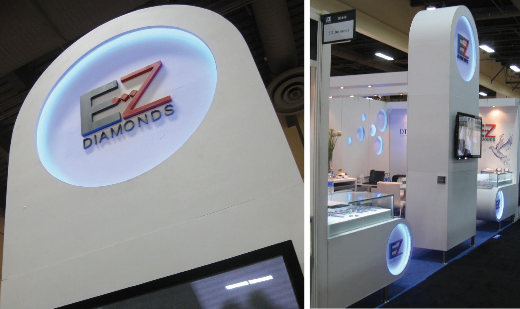 עיצוב ביתן EZ Diamonds בתערוכת JCK
