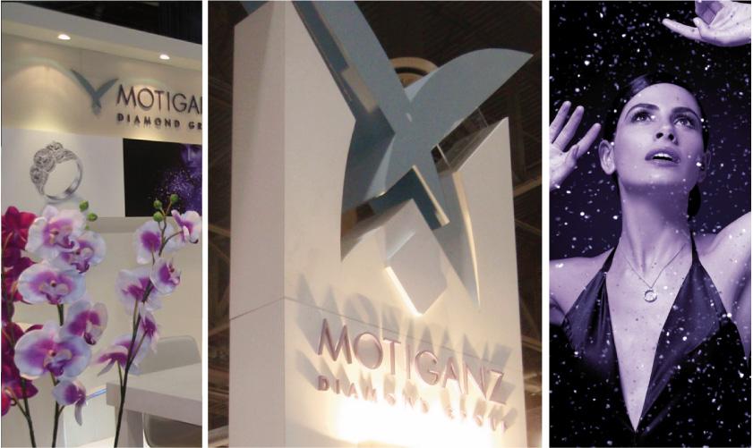 עיצוב ובינוי ביתן מוטי גנץ בתערוכת היהלומים בלאס-וגאס