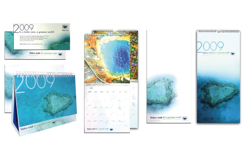 עיצוב לוחות שנה וכרטיסי ביקור לחברת מלכה עמית