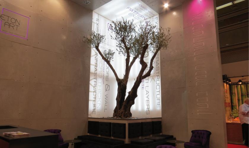 עיצוב ביתן בטון ארט לתערוכה