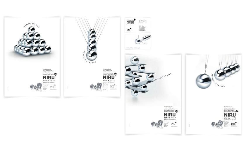 כרטיסי ביקור וקטלות עבור NIRU DIAMONDS